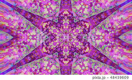 Abstract Colorful Painted Kaleidoscopic Graphic 48439609
