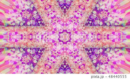 Abstract Colorful Painted Kaleidoscopic Graphic 48440555