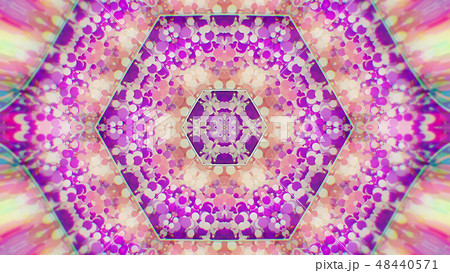 Abstract Colorful Painted Kaleidoscopic Graphic 48440571
