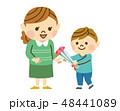 母の日 親子 カーネーションのイラスト 48441089