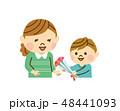 母の日 親子 カーネーションのイラスト 48441093
