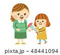 母の日 親子 カーネーションのイラスト 48441094