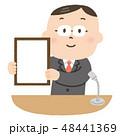 男性 発表 ビジネスマンのイラスト 48441369