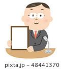 男性 発表 ビジネスマンのイラスト 48441370