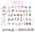 ダイエット 美容 アイコンのイラスト 48441636
