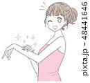 脱毛 ビューティー 女性のイラスト 48441646