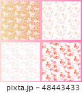 梅桜桃の花シームレスパターンセット 48443433