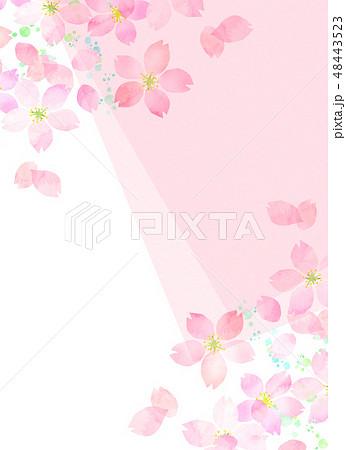 桜 水彩風 テクスチャー 48443523