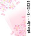 桜 フレーム 桜模様のイラスト 48443525