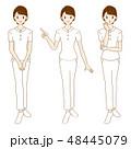 白衣 看護師 女性のイラスト 48445079