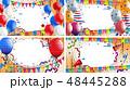 背景 風船 気球のイラスト 48445288