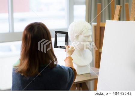 美術アトリエ 石膏デッサン 48445542