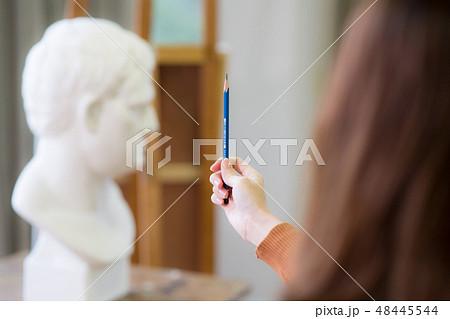 美術アトリエ 石膏デッサン 48445544
