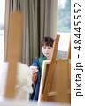石膏デッサン 美術 アトリエの写真 48445552