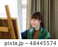 アトリエ アーティスト 絵画の写真 48445574