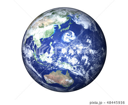地球(日本付近に巨大台風) 48445936