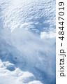 雪 積雪 冬の写真 48447019