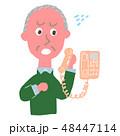 電話 シニア あせるのイラスト 48447114