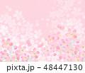 桜 バックグラウンド フレームのイラスト 48447130