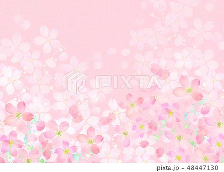 桜 水彩風 テクスチャー 48447130