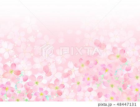 桜 水彩風 テクスチャー 48447131