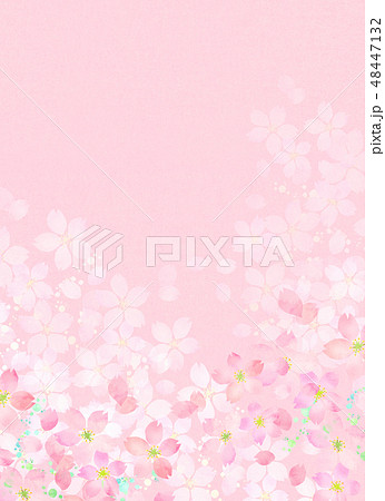桜 水彩風 テクスチャー 48447132