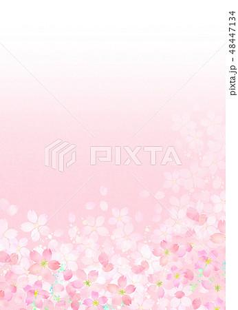桜 水彩風 テクスチャー 48447134