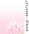 桜 バックグラウンド フレームのイラスト 48447137