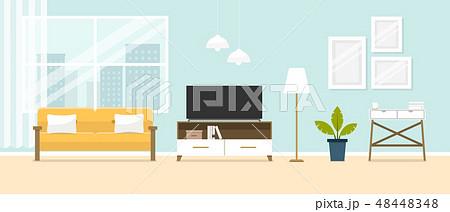 Interior of the living room. Design of a cozy room 48448348