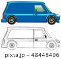 車 自動車 バンのイラスト 48448496