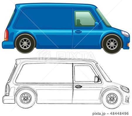 Doodle art for minivan 48448496