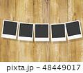 テンプレート-ポラロイド-フレーム-木目-クリップ 48449017