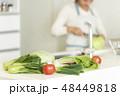 野菜 主婦 キッチンの写真 48449818