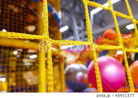 Indoor playground with colorful plastic balls for children 48451377