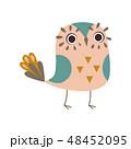 鳥 ベクトル マンガのイラスト 48452095