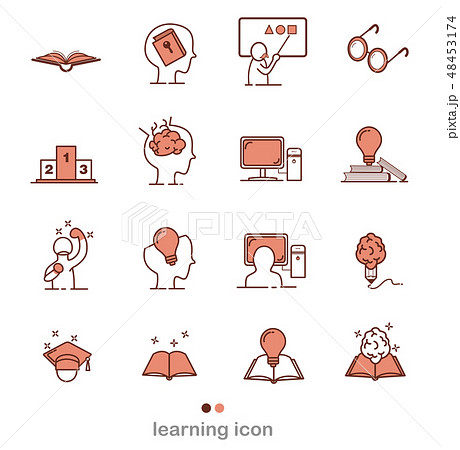 Set of Learning Intelligence Related Vector icon 48453174