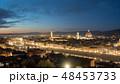 FLORENCE in Italy with the dome and Palazzo della Signoria and arno river 48453733
