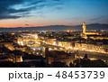 FLORENCE in Italy with the dome and Palazzo della Signoria and arno river 48453739