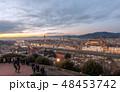 FLORENCE in Italy with the dome and Palazzo della Signoria and arno river 48453742