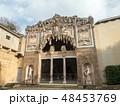Florence, Tuscany, Italy, Entrance of the Buontalenti Grotto in Boboli Gardens. Unesco World 48453769