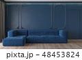 青 クラシック 古典のイラスト 48453824