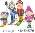家族スキーポーズ 48454576