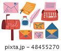 郵便 ポスト 配置のイラスト 48455270
