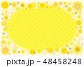 向日葵のフレーム ポストカード 背景素材 48458248