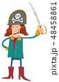 海賊 コルセア キャプテンのイラスト 48458861