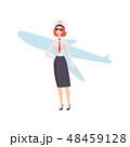 ひこうき 飛行機 ユニフォームのイラスト 48459128