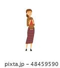 ビジネス ベクトル 女性のイラスト 48459590