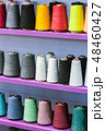 different color spools of thread for the textile industry   48460427