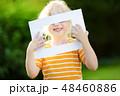 フレーム 子供 女の子の写真 48460886