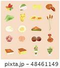 和菓子 スイーツ 京菓子のイラスト 48461149